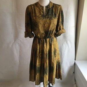 VTG French Vintage Secretary Keyhole Midi Dress